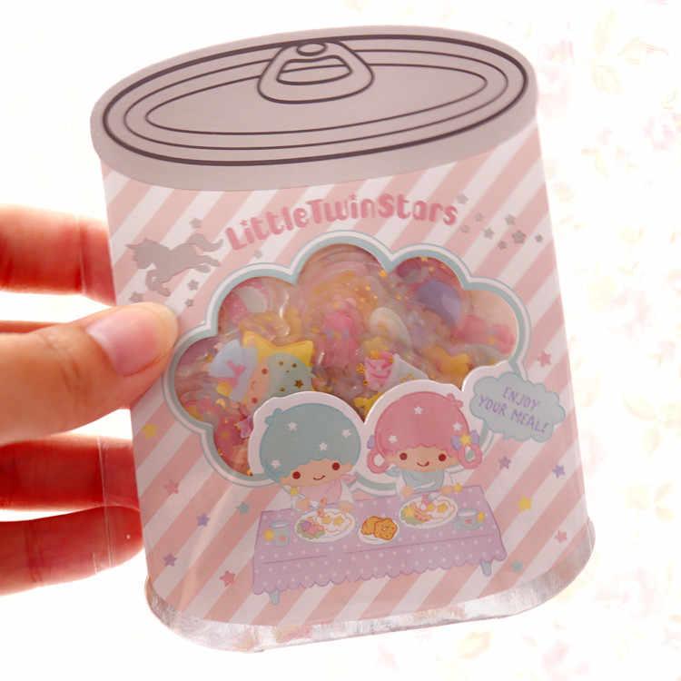 25 шт./упак. стильная футболка с изображением персонажей видеоигр уплотнение кукурузных хлопьев little twin stars pochacco собака KUROMi пластиковые наклейки для детских игрушек