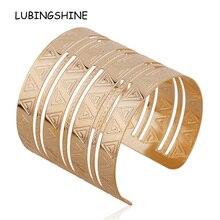 New Arrival Gold hollow out Woman Bracelets Geometric Patterns Bangles For Women Unique Bracelet Gift Bangles