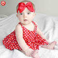 Cutyome Baby 1 Year Birthday Dress Sleeveless Red With White Dot Baptism For Infant Girls Party Clothes Newborn Princess Dresses