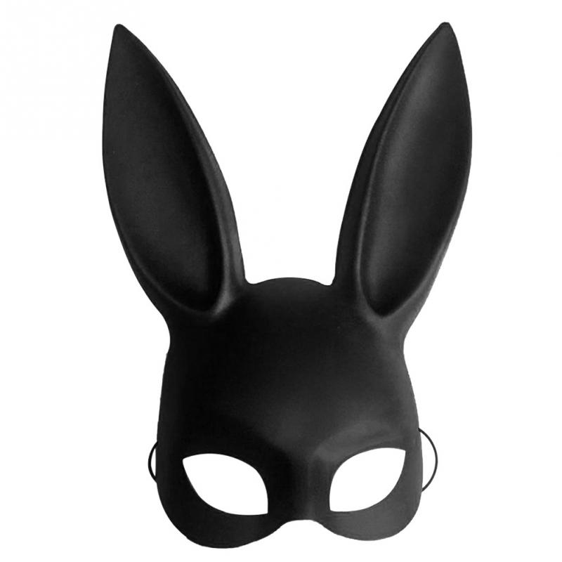Fashion PVC Women Girl Party Cosplay Rabbit Ears <font><b>Mask</b></font> <font><b>Sexy</b></font> Long Ears Carnival <font><b>Mask</b></font> <font><b>Halloween</b></font> image