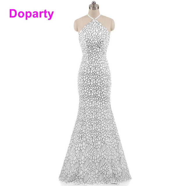 Doparty Formal Chiffon Elegant Engagement Mother Of The Bride Dresses Tulle Evening Dress 2018 White