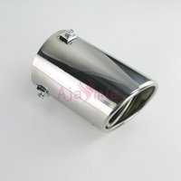 Accessories For Toyota Land Cruiser 120 Prado FJ120 2003 2009 Exhaust Muffler Tip Stainless Steel Pipe End Car Styling