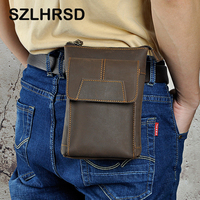 Genuine Leather Zipper Pouch Belt Clip Waist Purse Case Cover For Vernee T3 Pro V2 X1