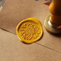 Sunflower Wax Seal Stamp Flower Sealing Wax Seal Wedding Wax Stamp