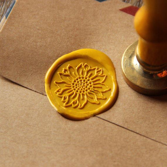 Sunflower Wax Seal Stamp Flower Sealing Wedding Ws016