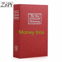 Zipi Key Mode & Password Mode Metal Steel Cash Secure Hidden English Dictionary Book safe Money Box Coin Storage children gifts