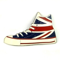 Union Jack British Flag Plimsolls Canvas Shoes Metal Buckle For Belt Accessories Retail Wholesale Custom Belt
