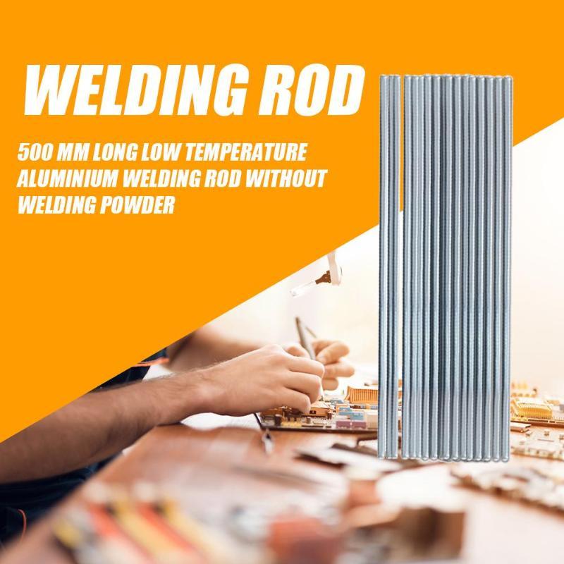 10Pcs 500mm Low Temperature Aluminum Repairing Welding Rod Electrodes Welding Sticks  Soldering Supplies Dropshipping
