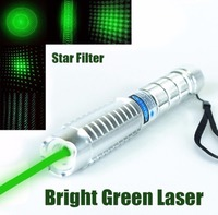 High Power 532nm 50000m green Laser Pointer Green Laser Pen Torch Burning Match/Paper/dry Wood Burn Cigarettes+5 star Caps