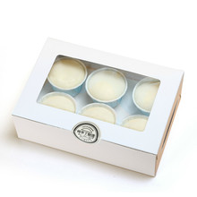 5 Pcs Cupcake Box Wedding Party Birthday White Brown Kraft Paper With Window Gift Packaging 6 Cup Cake Holders