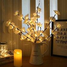 """Светодиодный светильник """"Ветка ивы"""" на батарейках натуральный цветочный высокий Ваза Наполнитель ивовая веточка освещенная ветка для украшения дома#30"""