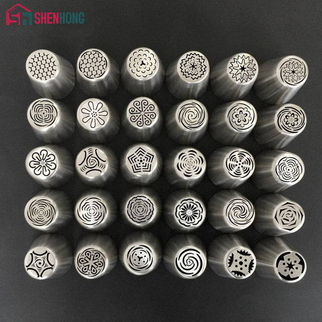 Complex Design Russian Piping Tips Stainless Steel Icing Nozzles Pastry Cake Decoration Tools for the Kitchen Baking