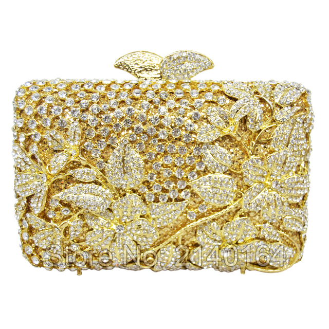 9080145b373a New Wholesaler Women Wedding Pochette Soiree Bridal Dinner Bags Retro Flower  Crystal Women Evening Clutch Bags Stone Indian 335