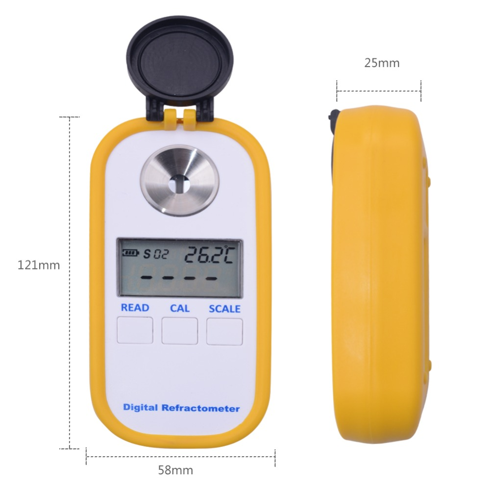 0 50 brix Coffee Sugar Meter TDS 0 25 concentration refractometer digital Portable electronic refractometer in Refractometers from Tools