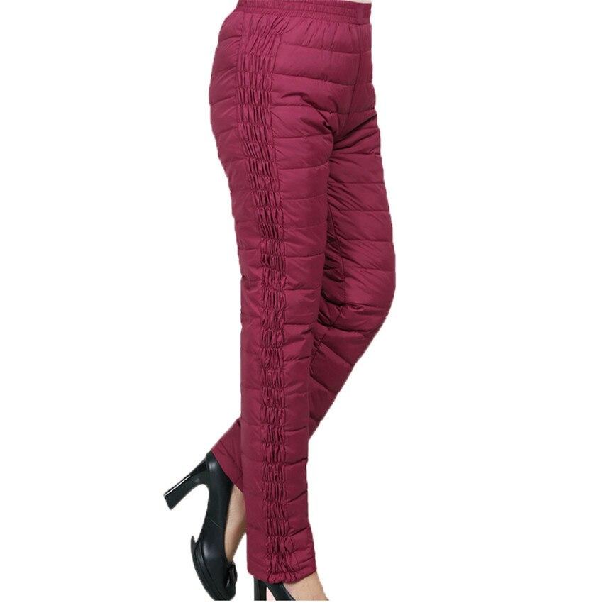 10ae959a8 2018 nuevo invierno mujeres abajo pantalones señora alta cintura pantalón  largo mujer tamaño grande espesar Pantalones rectos outwear 415