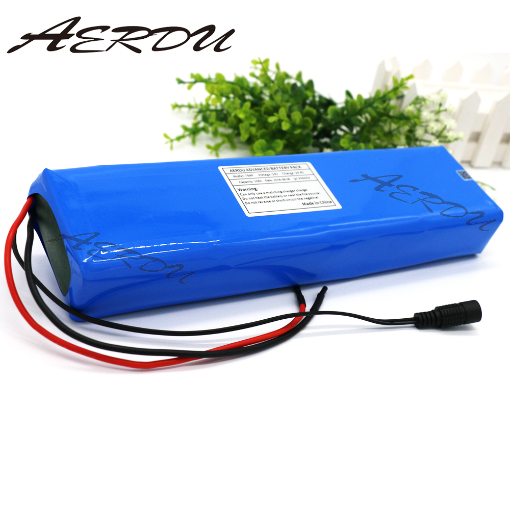 AERDU 7S4P <font><b>29.4V</b></font> <font><b>10Ah</b></font> electric bicycle motor ebike scooter 24v 25.9V 18650 lithium battery pack batteries 20A BMS 450watt image