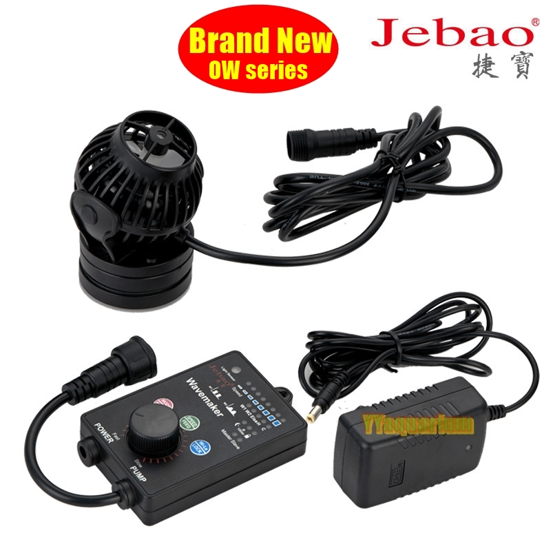 2018 New Jebao OW series Wavemaker 360 Degree CT 4 Motor W/ smart controller Ultra Silent Impeller Pump For Reef Marine Tank