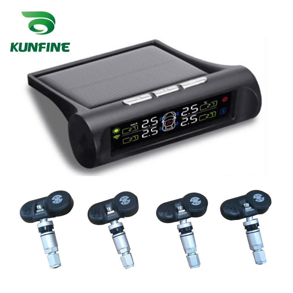 Système de moniteur d'alarme de pression de pneu de voiture TPMS solaire affichage LCD 4 systèmes d'alarme de capteur interne/externe électronique de voiture de sécurité