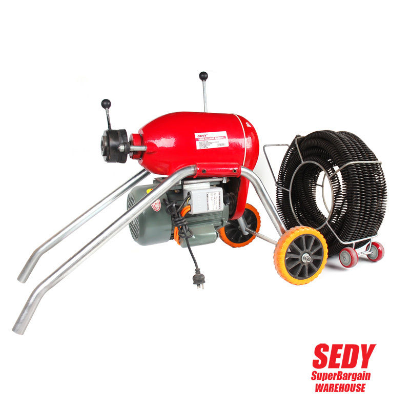 Heavy Duty Electric Drain Cleaner 30mm Coil Plumbing Snake Sewerage Pipe Machine дырокол deli heavy duty e0130