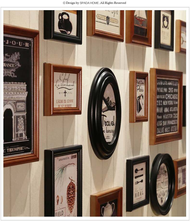 Picture Frame Wall Wooden Frames Vintage Photo Frames Fopr Picture ...