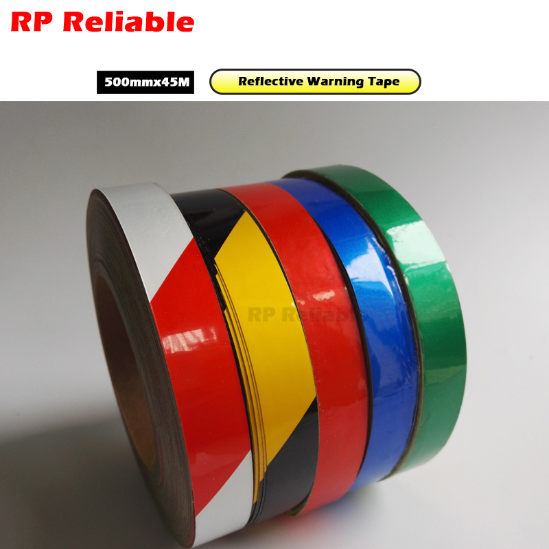 RP Reliable -- 500mmx45M Road Workshop Refective Warning Tape Customize size offer, please contact.RP Reliable -- 500mmx45M Road Workshop Refective Warning Tape Customize size offer, please contact.