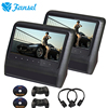 Fansel 2PCS 9 Inch Car Headrest DVD Monitor Video LCD Screen Player USB SD IR FM