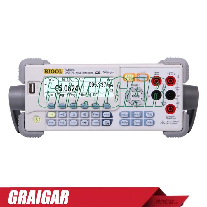 RIGOL DM3058 - 5 1/2 Digit Digital Multimeter 1 2 lcd 2 digit clip on red wine digital thermometer black 2 x lr44