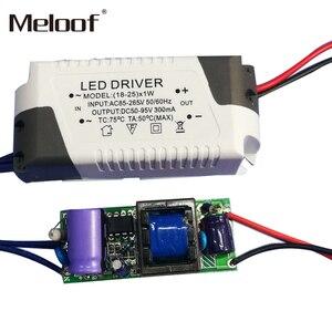 Image 5 - LED sterownik prądu stałego 85 265V 1 3W 4 5W 4 7W 8 12W 18 24W wyjście zasilania 300mA dysk zewnętrzny dla LED typu downlight