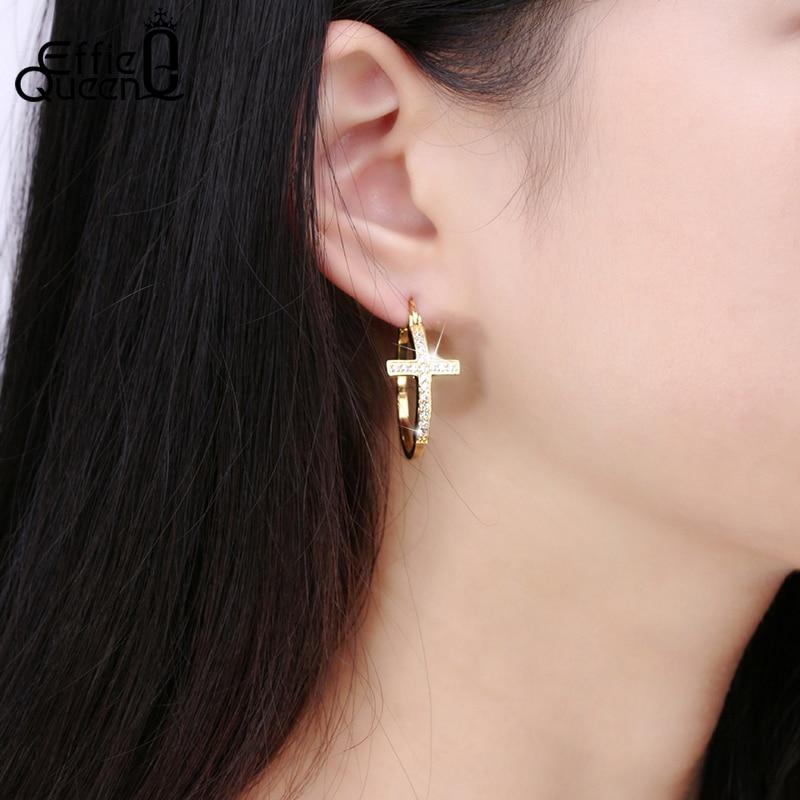 Effie Queen Hot Πώληση Μεγάλα Hoop Σκουλαρίκια - Κοσμήματα μόδας - Φωτογραφία 4