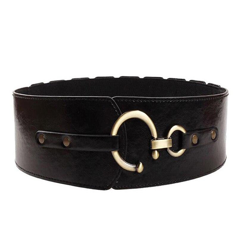 New Fashion Korean Style Buckle Elastic Wide Belt Wide Cummerbund Strap Belt Waist Female Women Accessories