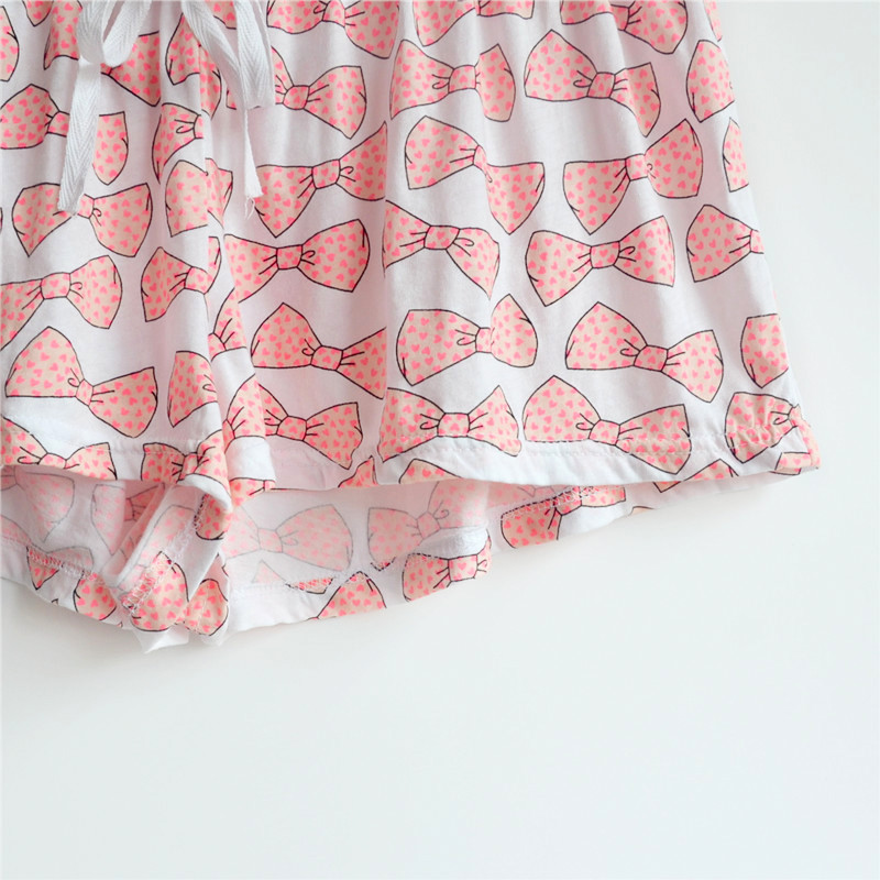 e4f6a367faf8 Women Bowknot Print Modal Cotton Pajama Shorts Women Loose Summer Cute Pajama  Bottoms Elastic Waist Sleepwear Shorts-in Sleep Bottoms from Underwear ...