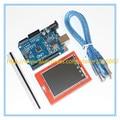Placa de Desenvolvimento UNO R3 MEGA328P + 2.4 Polegada TFT Módulo de Tela de Toque LCD Screen Display para Arduino Starter Kit DIY