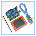 UNO R3 MEGA328P Development Board + 2.4 Inch TFT Touch LCD Screen Module Display Screen for Arduino DIY Starter Kit