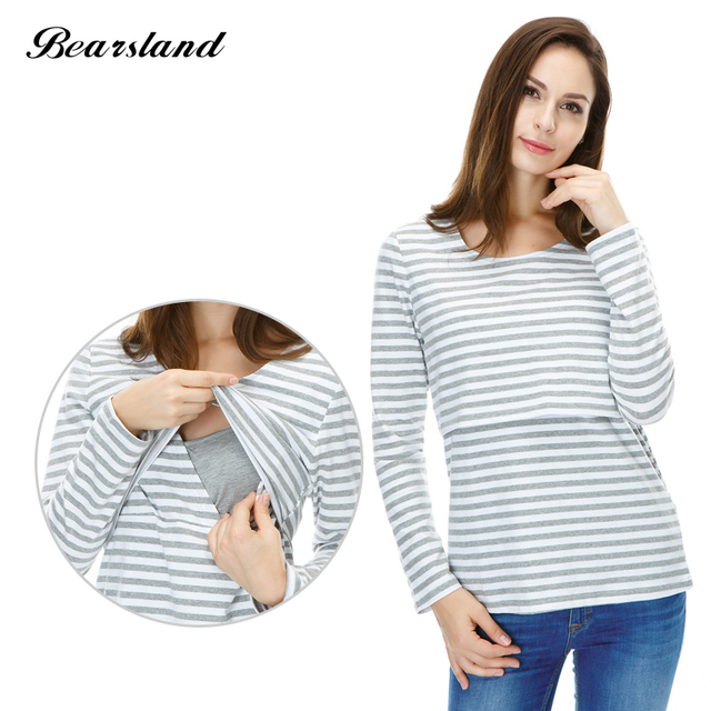5df4afa61a218 Wholesale Maternity Nursing top Casual Style cotton Breastfeeding clothes  Autumn and Winter Maternity Clothes for Pregnant Women
