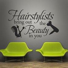 Hair Salon Vinyl Wall Decal Graphic Beauty Shop Decor Decorative Sticker Lettering Words Quotes Decoration