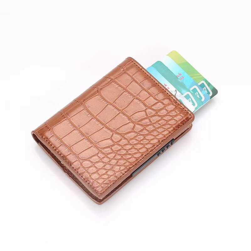2019 многофункциональный держатель для карт, кошельки из искусственной кожи, RFID держатели для кредитных карт, алюминиевый сплав, Бизнес ID Bank, защитный чехол для карт