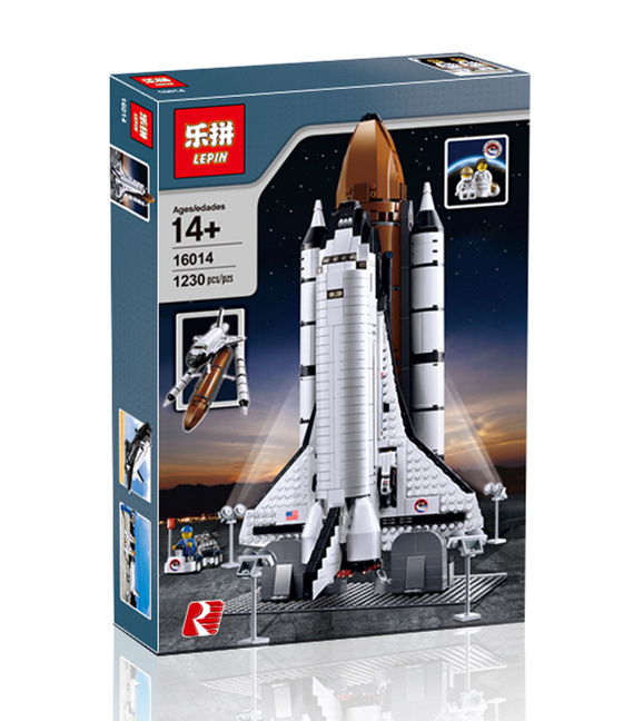 Factory Lepin Blocks Expedition Spaceship DIY Building Toys space shuttle Model Toy Kids Gifts Children Educational Toys 16014 lepin 16014 1230pcs space shuttle expedition model building kits set blocks bricks compatible with lego gift kid children toy