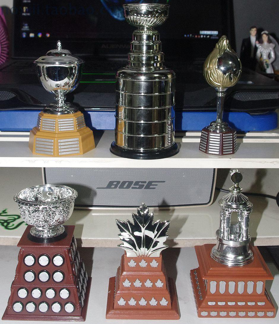 National Hockey League N H L Stanley / Trophies 1: 6 model Decoration 6pcs/ set ...