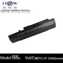 BLACK Battery 10400mah 11.1v laptop battery for Acer Aspire One A110 A150 ZG5 UM08A71 UM08A72 UM08A73 UM08B74 UM08A31 12 cells