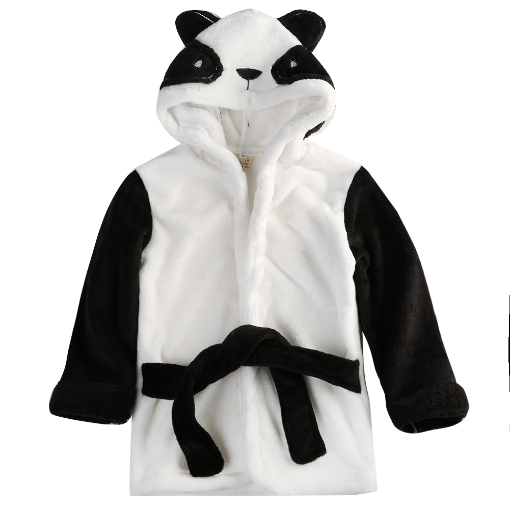 Boy Girl Animal Baby Clothing Set Long Sleeve Bathrobe Hooded Bath Towel Infant Bathing Honey Baby Accessories