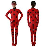 The Miraculous Ladybug Cosplay Costume Halloween Girls Ladybug Marinette Spandex Full Lycr Tight Suit Zentai