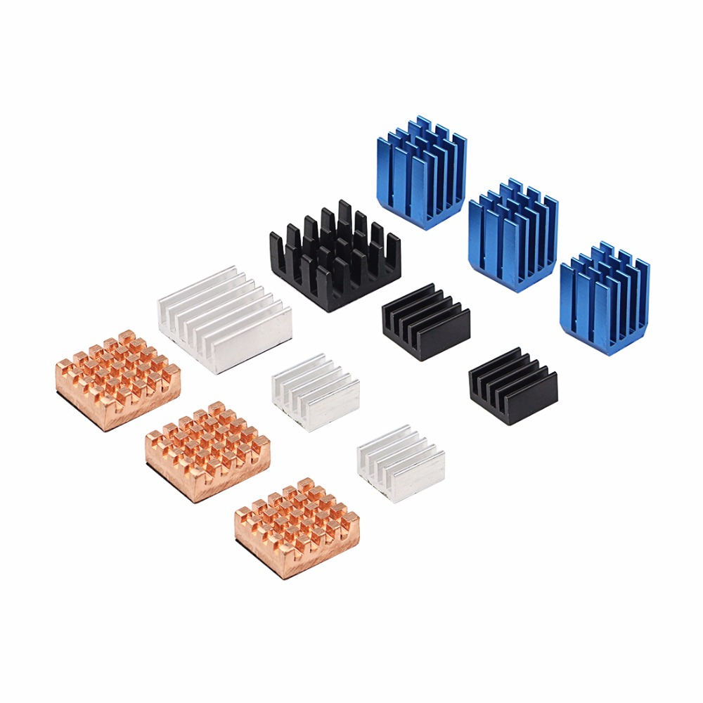 12 pcs/lot Raspberry Pi 3 Heat Sink Copper Aluminum Heatsink Radiator Cooler Kit for Raspberry Pi 3B+ / 2