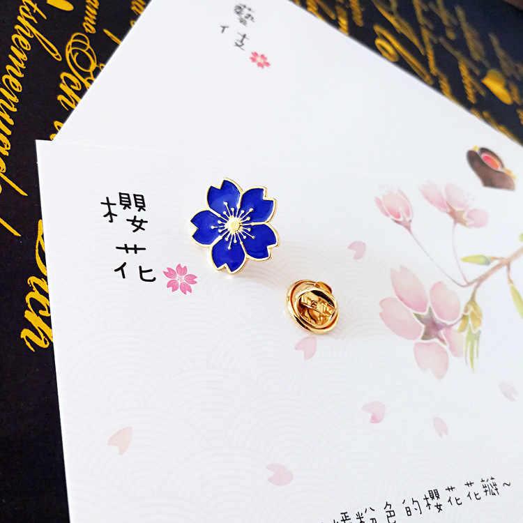 Qiaoyue 新しい 2019 甘い桜ブローチドリップ花の襟ピンバッジ服バッグアクセサリー女性のアクセサリー