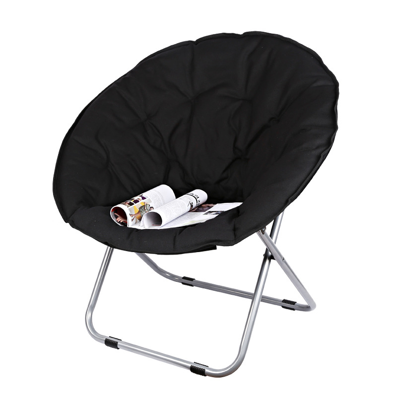 Large Size Moon Folding Chair Portable Couch Lazy Chair for Adult Soft Oxford Cloth Cushion Seat
