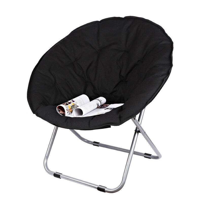 大サイズムン折りたたみ椅子ポータブルソファ怠惰な椅子大人のためのソフトオックスフォード布クッションシート強力なベアリング  グループ上の 家具 からの ガーデン チェア の中 1