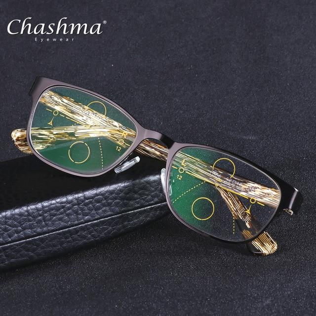 CHASHMA marca lente Multifocal progresiva gafas De lectura hombres  Presbyopia Hyperopia Bifocal gafas deportivas TR90 Oculos 22fe6f86b7