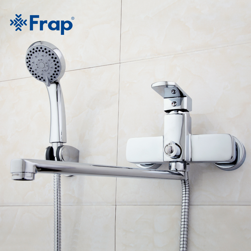 Frap High quality Brass body 35cm length outlet rotated Bath room shower faucet With ABS shower