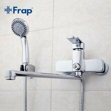 Frap Латунный корпус Высокого Качества 35 см длина выход повернутого Ванная комната смеситель для душа С ABS глава душ F2273