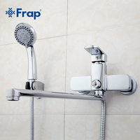 High Quality Brass Body 35cm Length Outlet Rotated Bath Room Shower Faucet With ABS Shower Head