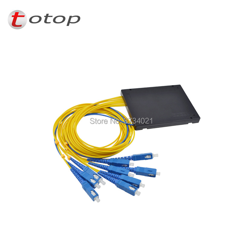 SC UPC MINI PLC 1X8 Single mode LC fiber optic splitter FBT Optical Couple with best quality